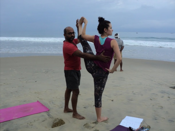 Mahesh during the Ashtanga teacher training....